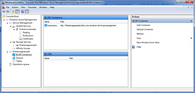 Windows Azure BLOB Container