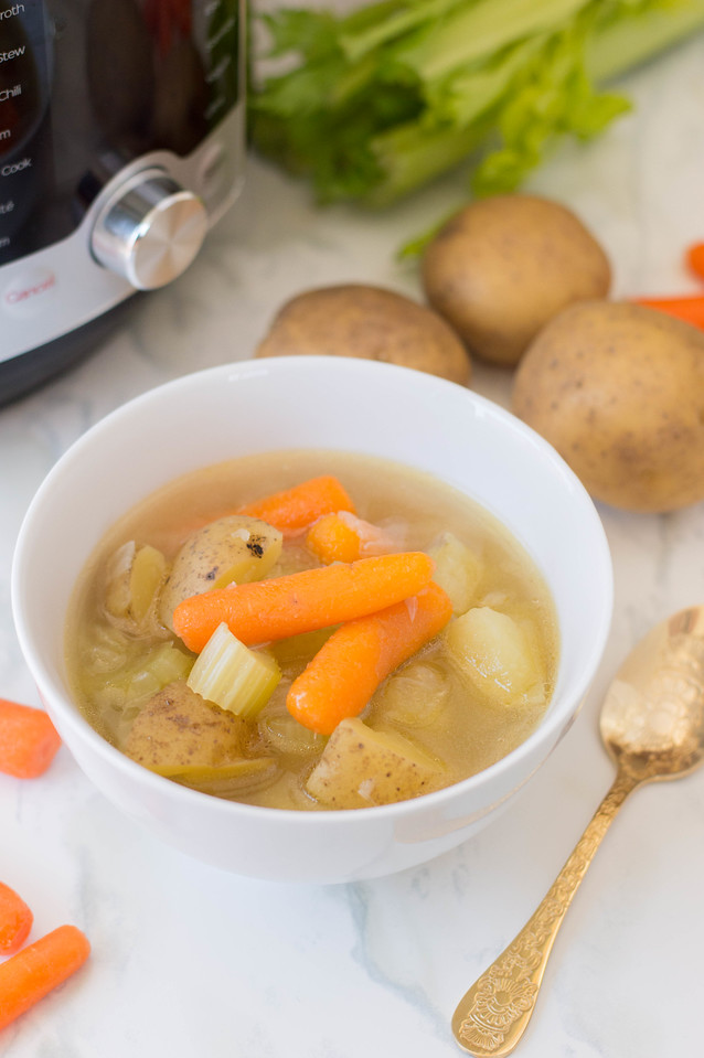 This Instant Pot Vegetable Soup is an easy recipe to make with only a few ingredients. It's the perfect Instant Pot creation for these uncertain times.