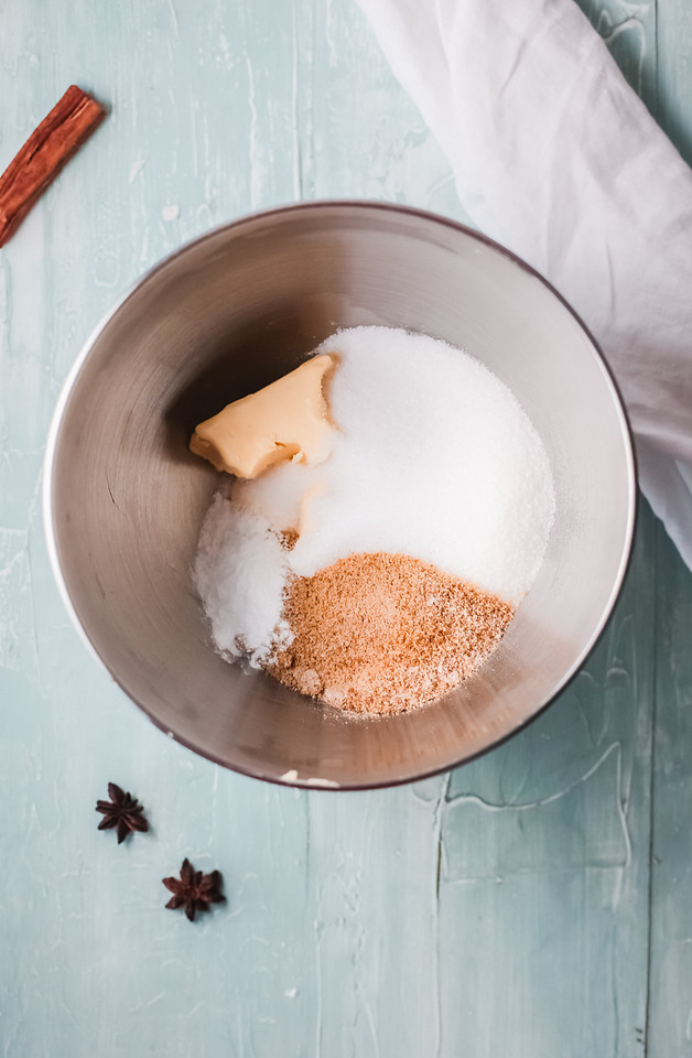 ingredients for eggnog coffee cake
