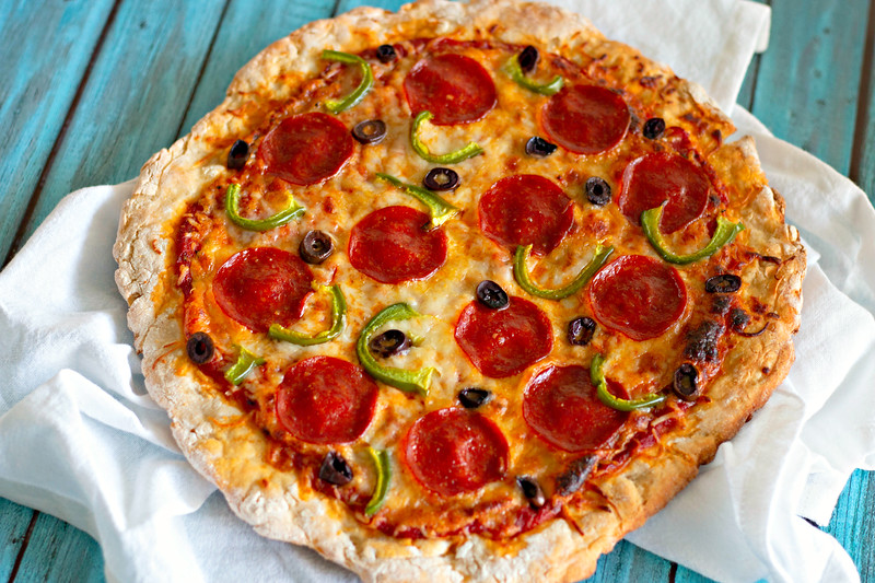 This easy Homemade Greek Yogurt Pizza #Recipe uses a two-ingredient crust and is the perfect recipe for your family pizza night, or for any foodie occasion!