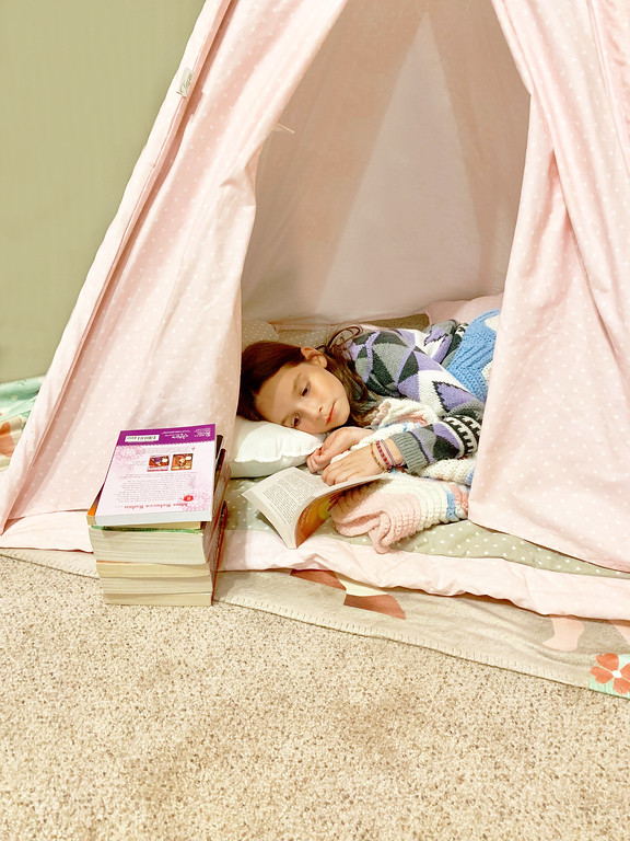 teepee reading fort