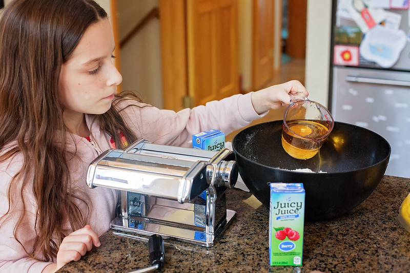 #ad Since we are staying at home, we decided to make the most delicious cake EVER, using boxed cake mix and Juicy Juice. Make it with kids! #JuicyJuiceCrew