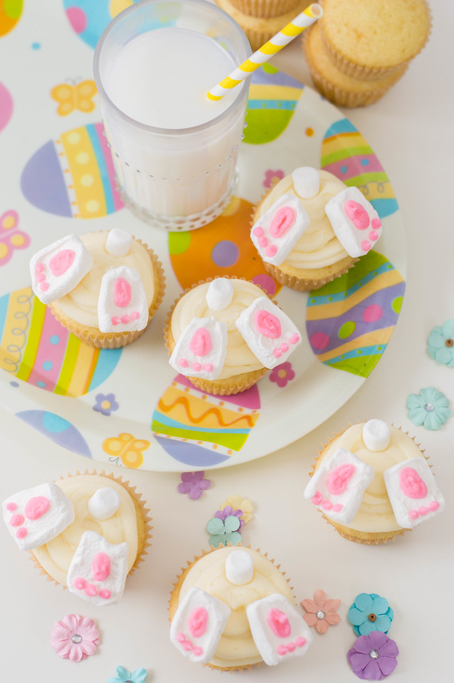 Make these Bunny Butt Cupcakes to ring in spring, or to leave out for the Easter Bunny! This is part of our Baking with Kids series during our quarantine.