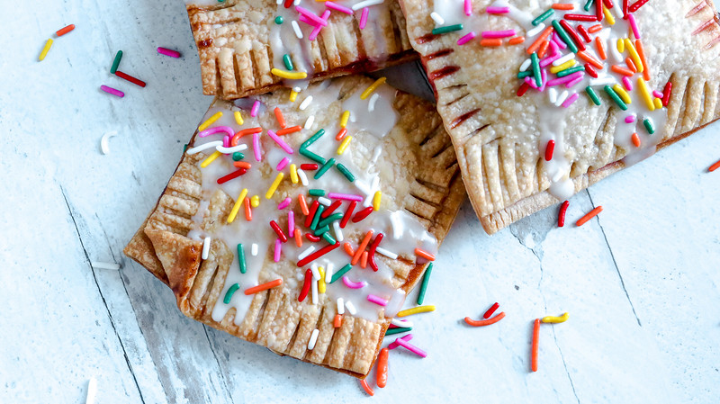 These Strawberry Homemade Pop Tarts are made in an air fryer and are absolutely delicious and easy to make. Make them for breakfast, snack, or dessert!