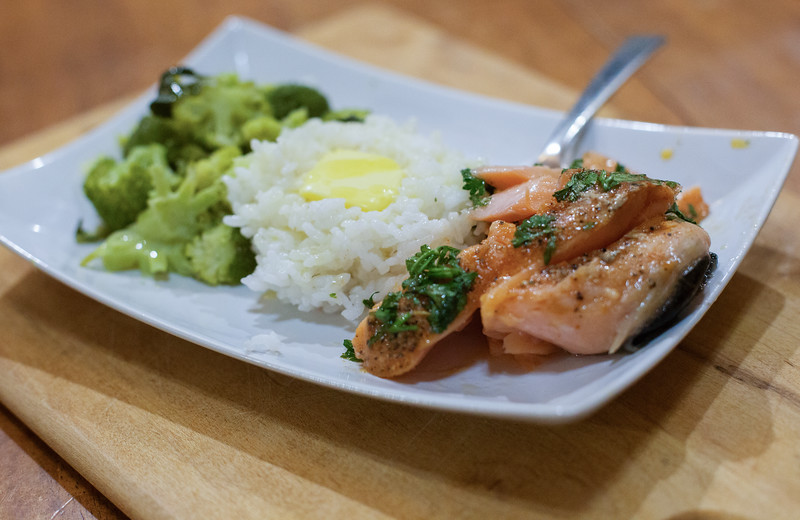 #AD This is the most tender and flaky salmon EVER, using our Anova Precision Cooker. See why we cook sous vide. @AnovaCulinary #AnovaFoodNerd #IC