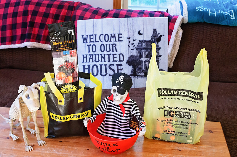 Halloween shopping spree items from Dollar General