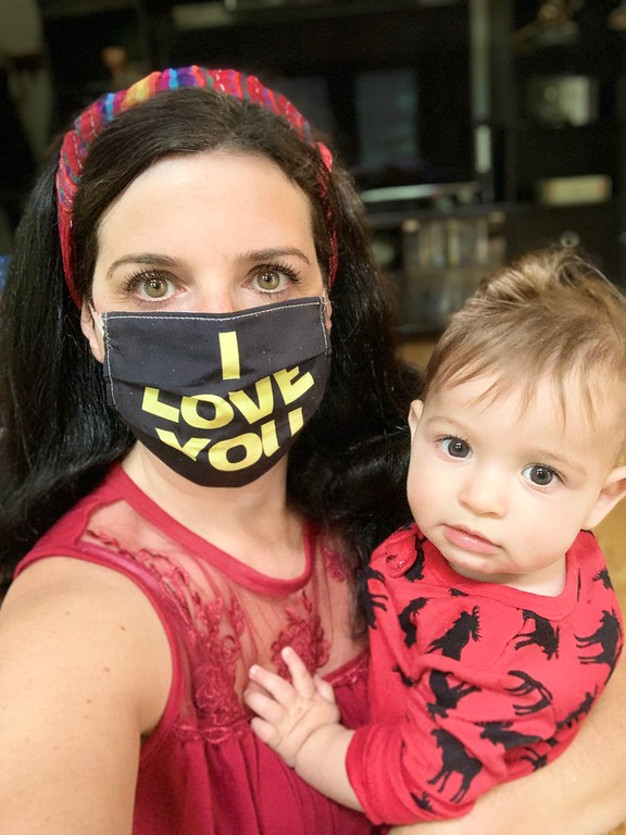 mama and baby star wars mask