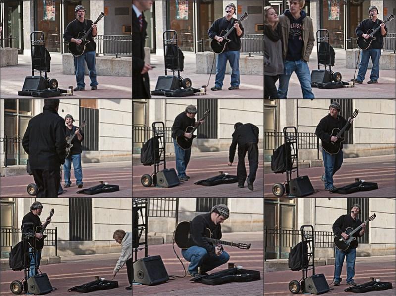 Musician street artist in Ottawa, Canada