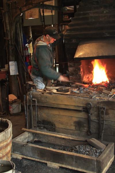 Old style blacksmith shop in Trinity, Newfoundland