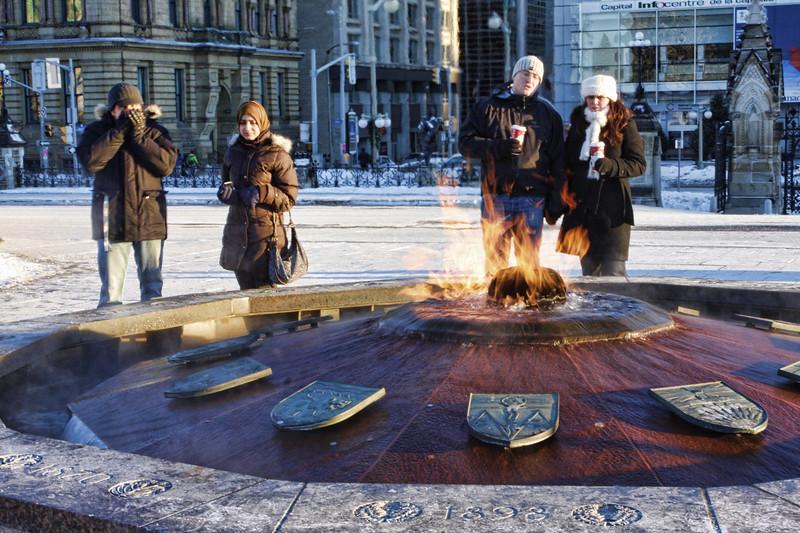 Centennial Flame in Ottawa, Canada