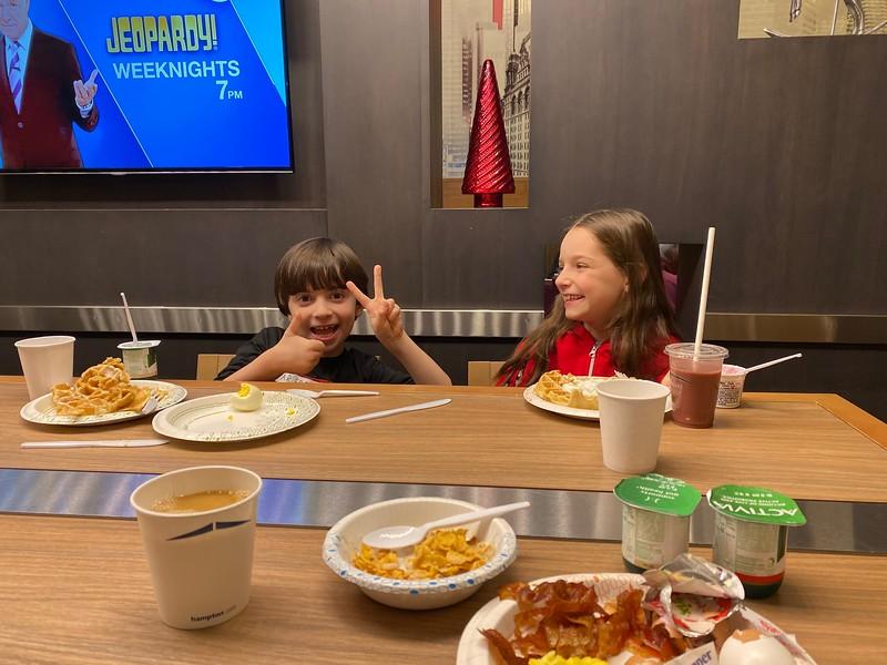 breakfast buffet in hotel