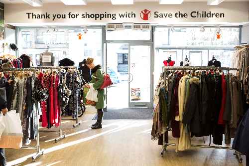 Volunteers working at the Save the Children Charity Shop, Clapham High St