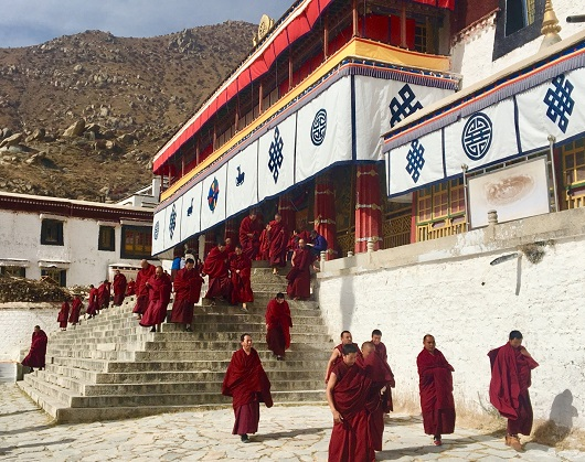 Drepung Monastery Gambo Utse Mountain