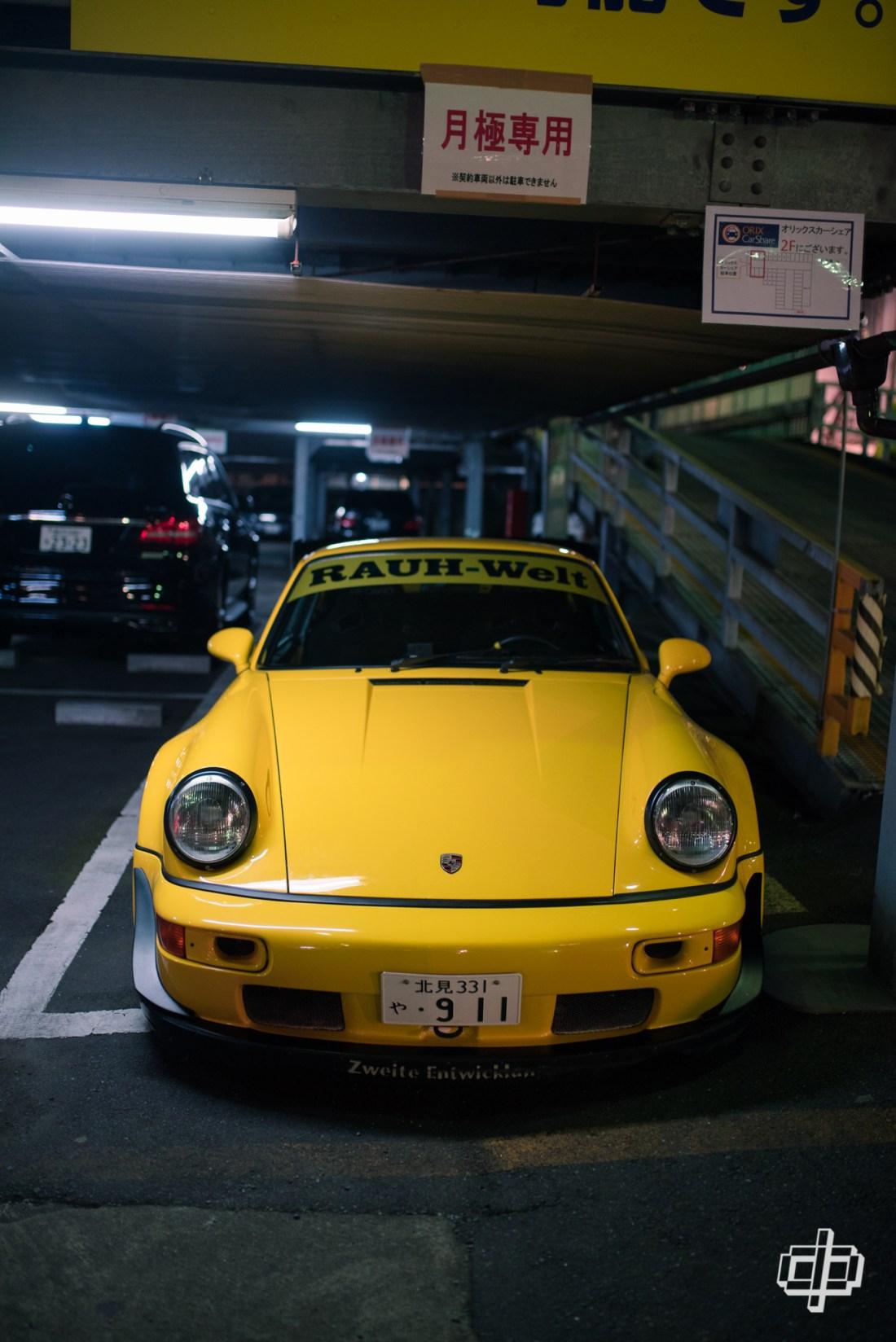rwb yellow 964 carrera journey to tokyo 2017 dtphan