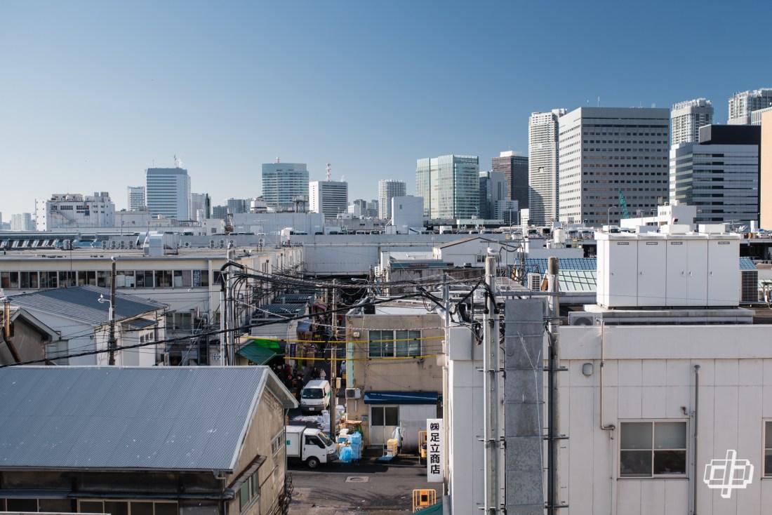 tsukiji skyline view journey to tokyo 2017 dtphan