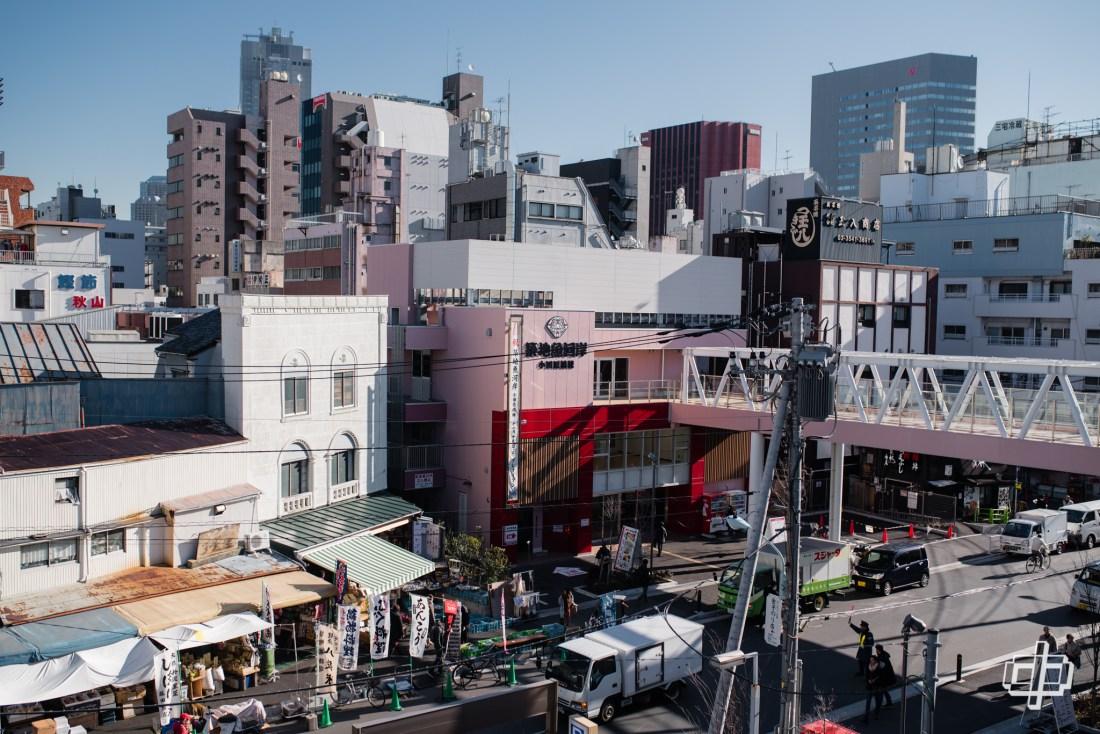 skyline view of tsukiji fish market journey to tokyo 2017 dtphan
