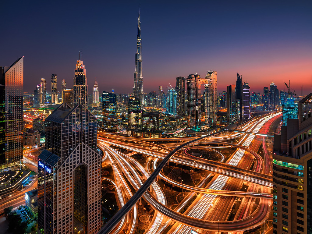 2019 in Pictures Dubai Sunset