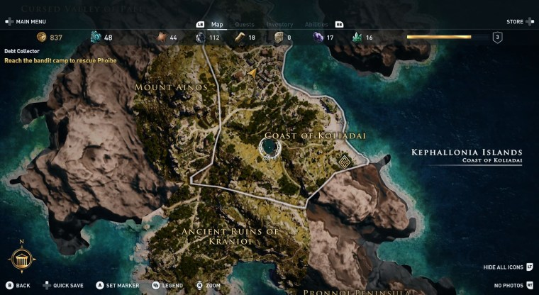 Lake Abythos assassin's creed odyssey kephallonia island