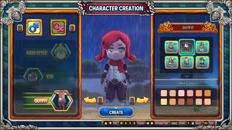 character creation in Re:Legend