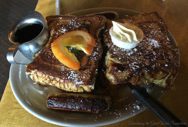 Epic French Toast at the Brown Bag Cafe in Kirkland, Washington