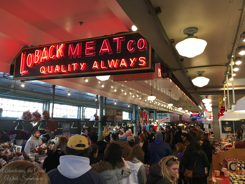 Sunday Crowds at Pike Place Market, Seattle