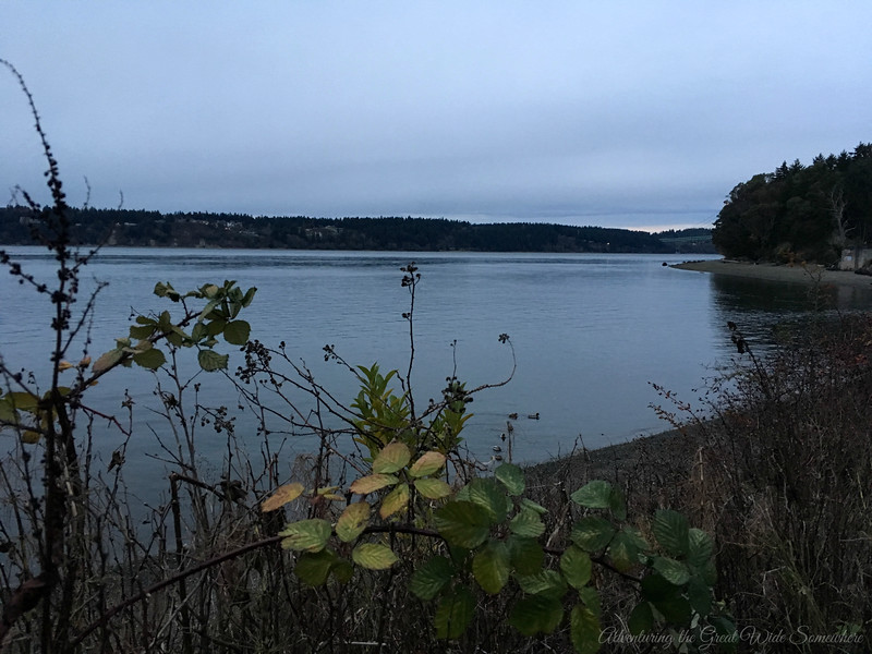 Water View From Titlow Beach in Tacoma, Washington