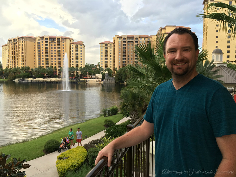 Dan Enjoying the View at the Wyndham Grand Orlando Resort Bonnet Creek