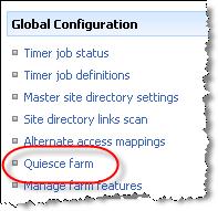 Quiesce farm