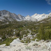 The views of Little Lakes Valley on the way to Mono Pass are some of my favorite in the Sierra.