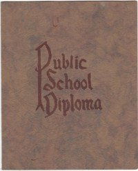 Alice LeGrande Public School Diploma, Guthrie, Oklahoma