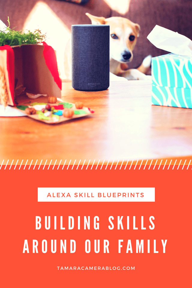Alexa Blueprints are a unique way to help and entertain your family, your house guests, and even your pets! Find out how to create and build skills together, and how it helps your family. #skillblueprints #alexa #IC #ad #alexaskills #createalexaskills #letalexa