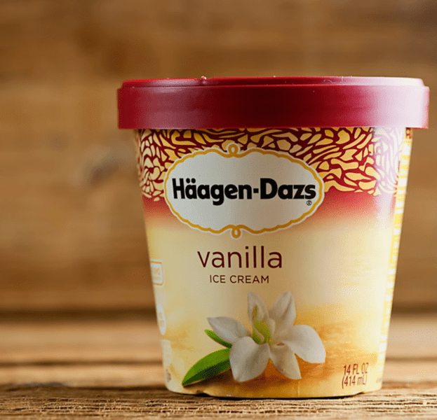 Pint of Haagen-Daz vanilla ice cream