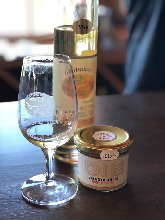 Wine at Vignoble du Mitan on Ile d'Orleans