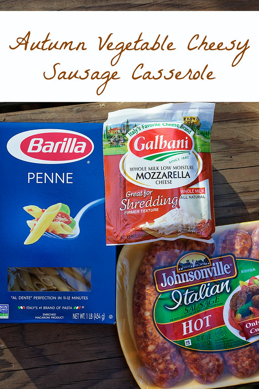 Winter Squash Cheesy Sausage Bake. Easy fall/winter recipe that is perfect for gatherings or cold nights in. #Johnsonville #Barilla #Galbani #recipe #dinner