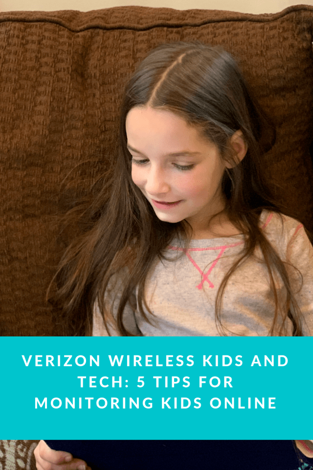 Since our kids are growing up in a digital age, it's best to teach them healthy online usages. Here are 5 tips for monitoring kids online #ad #vzfamilytech