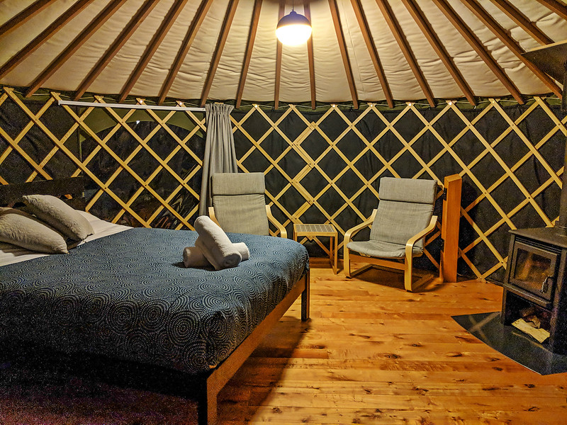 8 Day New Zealand Road Trip - Oasis Yurts interior