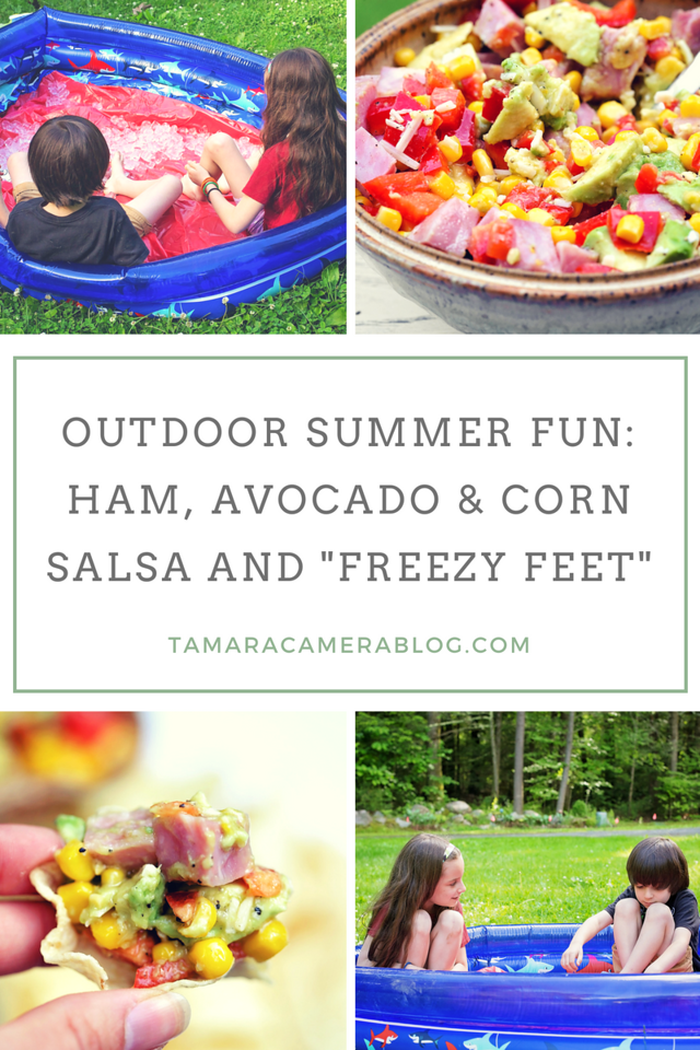 AD My Ham, Avocado and Corn Salsa recipe is incredible! It's easy, versatile, and made with tasty ingredients. Best paired at an outdoor party with games!