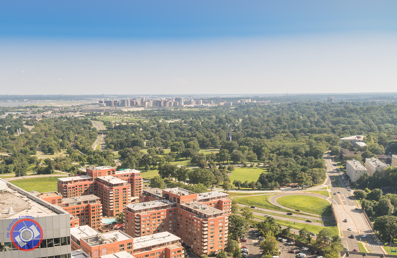 Looking Over Arlington Towards the National Cemetery and the Pentagon from the 32nd Floor of Central Place (©simon@myeclecticimages.com)