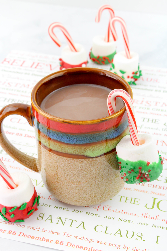 This Candy Cane Hot Cocoa Dippers recipe is perfect for the holiday season, and all winter long. Make them from items you already have in your house. Enjoy!