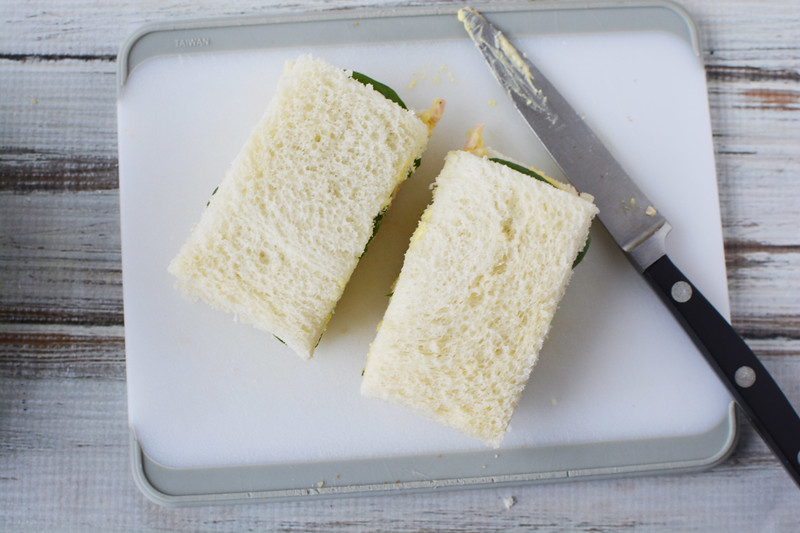 egg salad tea sandwich