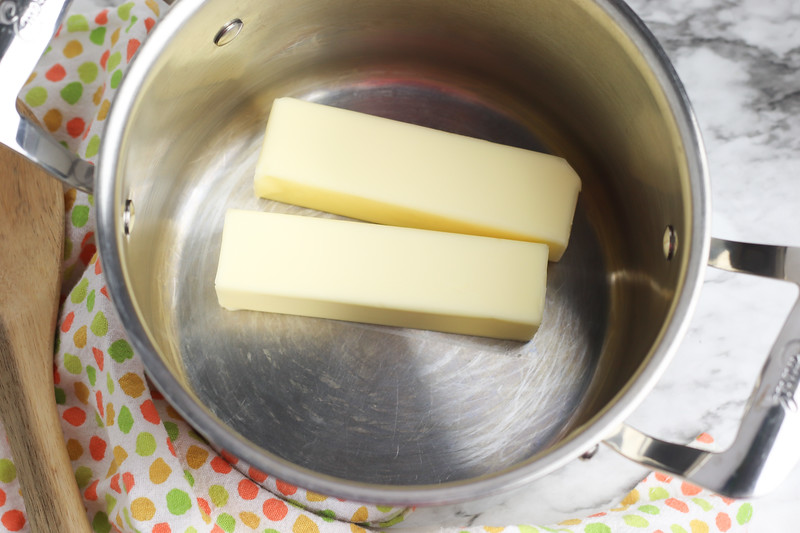 butter for homemade brownies recipe