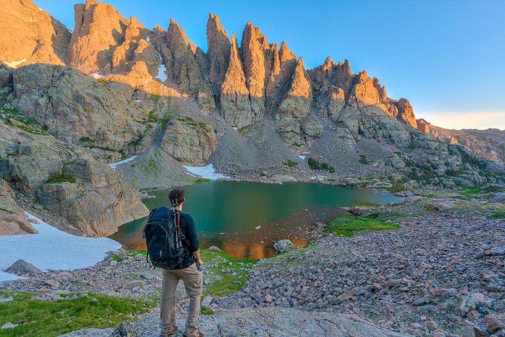 Hiking Sky Pond Rocky Mountain National Park Colorado