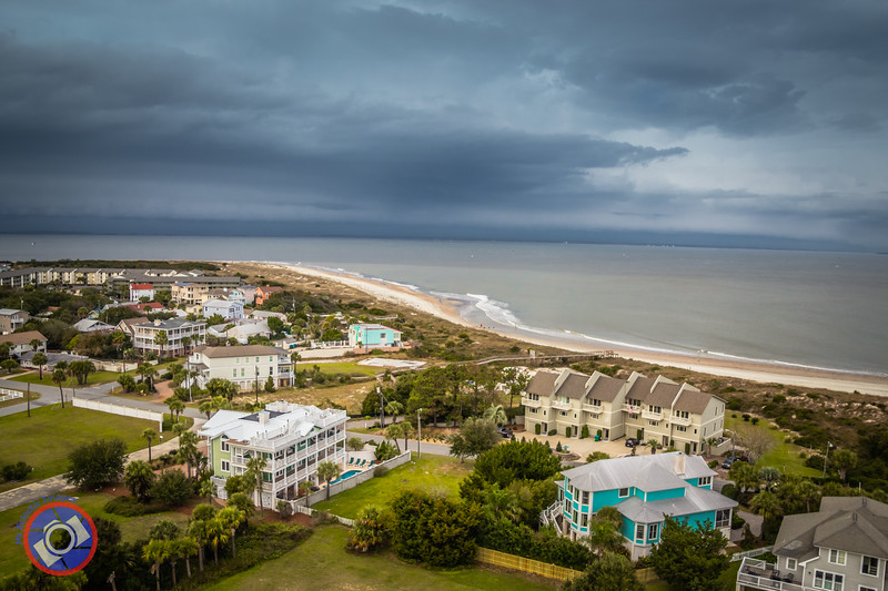 Part of the Tybee Island Beach Viewed from the Lighthouse About One Mile from Tybee Hotel (©simon@myeclecticimages.com)
