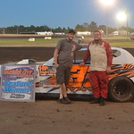 Street Stock point leader, Lance Evans picked up win #4 in the makeup race from July 31