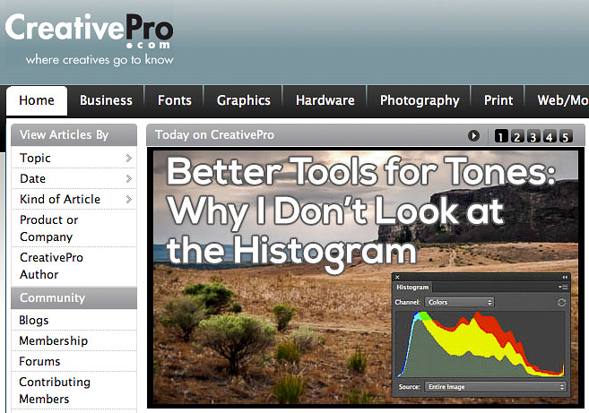 Better Tools for Tones- Why I Don't Look at the Histogram on CreativePro.com