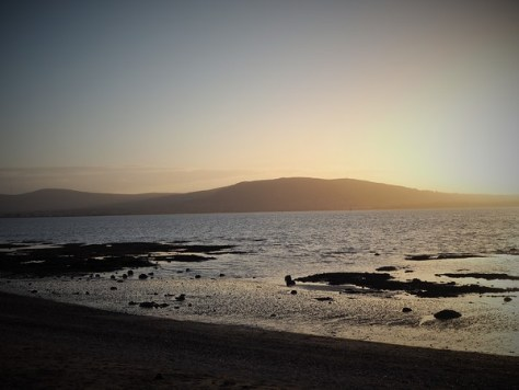 Sunset over the Belfast Lough
