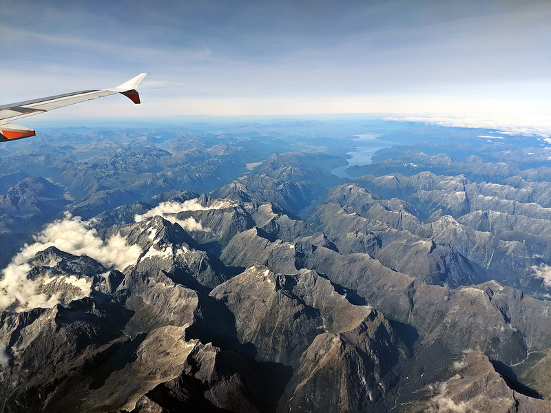 8 Day New Zealand Road Trip - flying over the south island
