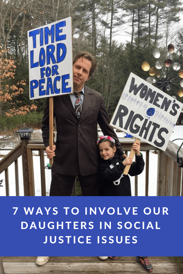 Our daughters are a big part of our future. Read 7 ways to involve them in social justice issues. #ad #ChroniclesOfASuperheroine #BeKindBeSmart #BeADanielle