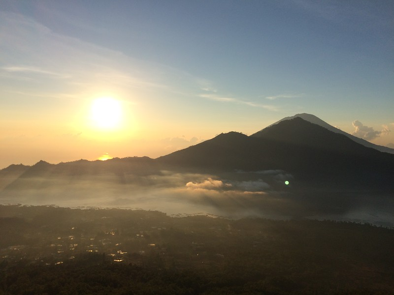 A beautiful shot of Mount Batur, Indonesia. Photo Credit: Sarah Berthe