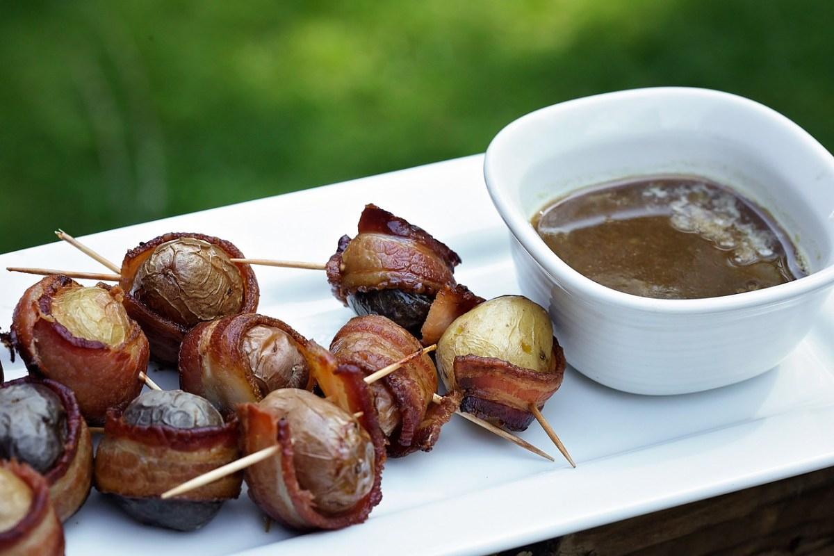 Bacon-Wrapped Potatoes With Brown Sugar Glaze